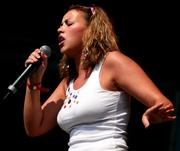 Charlotte Church {Large Chest in Tight Shirt} Performing at Party In The Park - July 10, 2005 (HQx8)