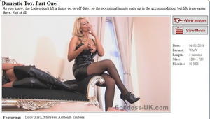 Goddess-UK: Domestic Toy. Part One